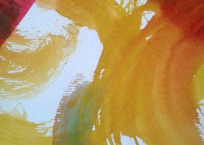 Joie (détail) - Peinture calligraphique