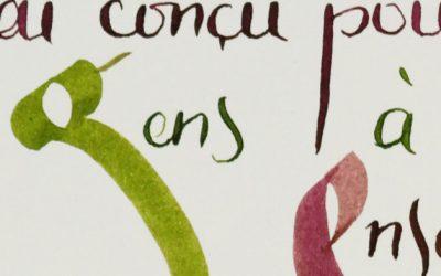 Une calligraphie pour une bonne cause