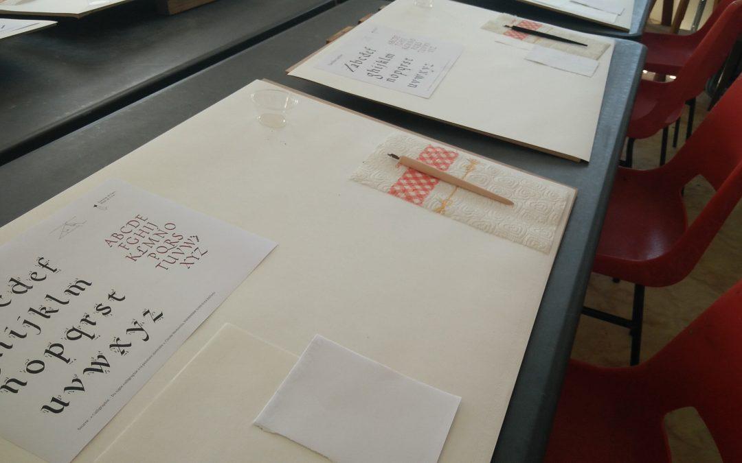 Découverte de la calligraphie à l'APSP