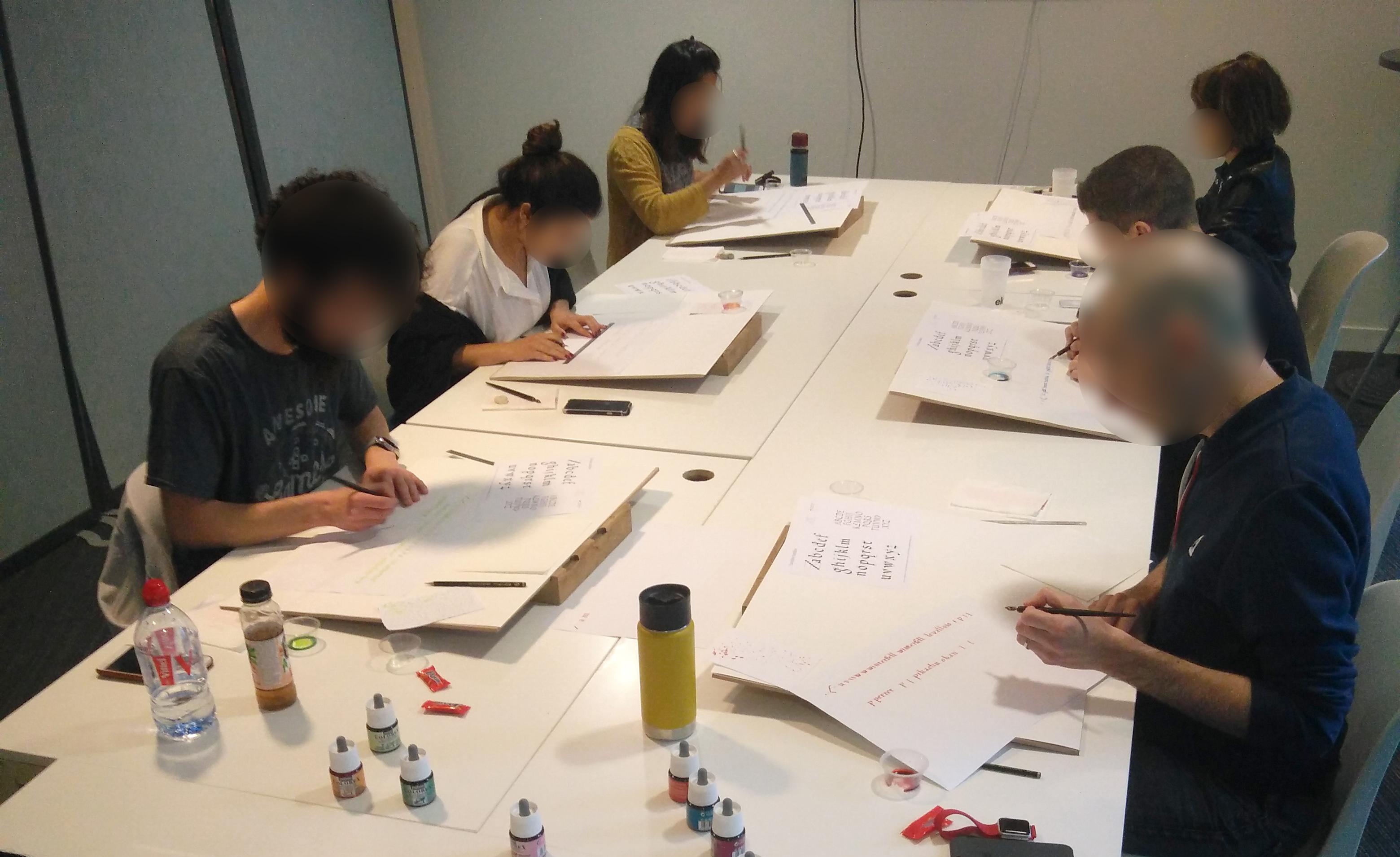 Initiation à la calligraphie latine en entreprise