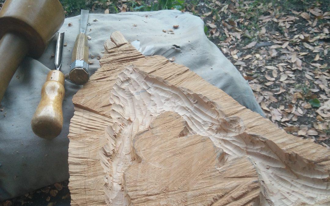 Première sculpture sur bois