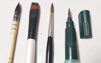 Comparatif de pinceaux aquarelle