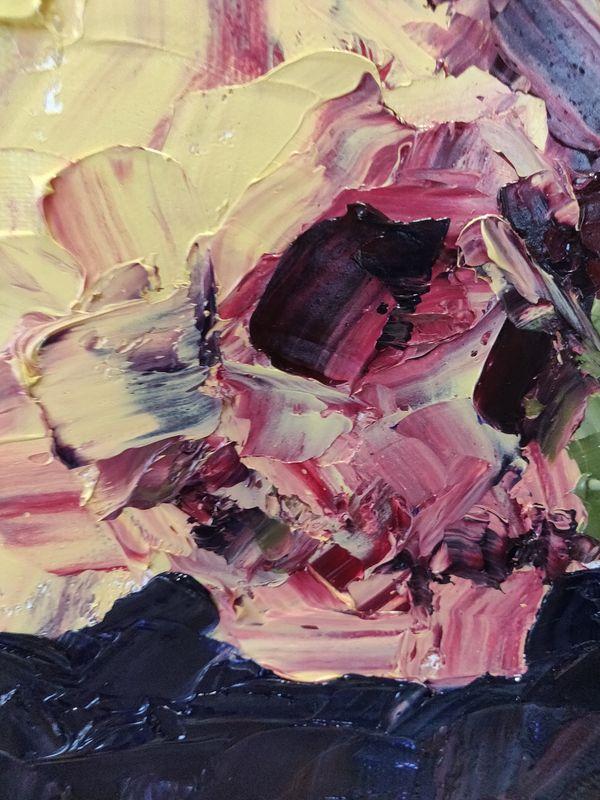Première peinture à l'huile !